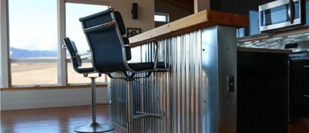 metal wainscot interior