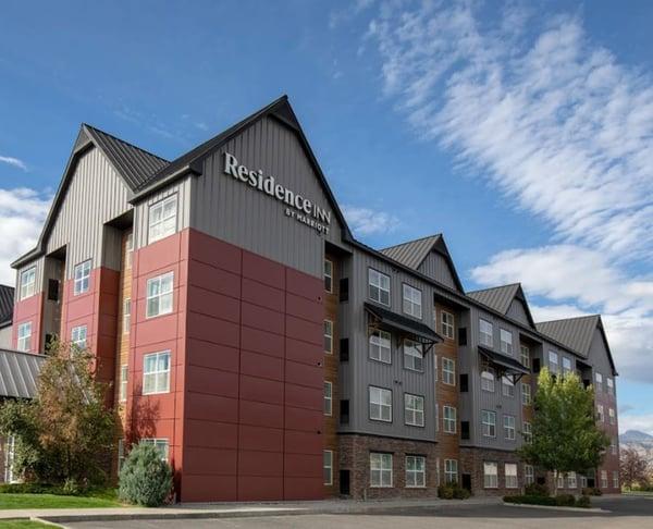 Residence Inn hotel using metal panels