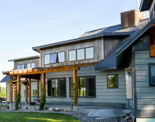 Tuff Rib and Corrugated Metal Siding Panels on a residnetial home