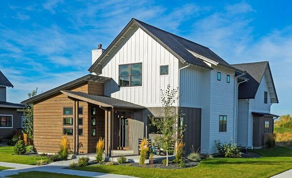 Metal siding on a residential home