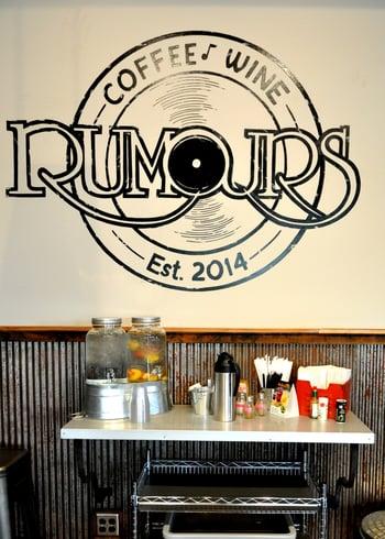 Rustic Corrugated Metal in Rumours Coffee Shop