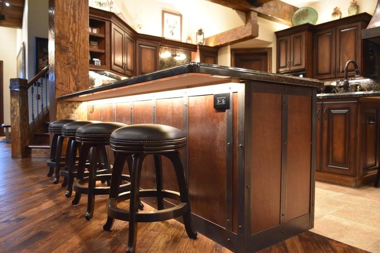 custom metal kitchen bar