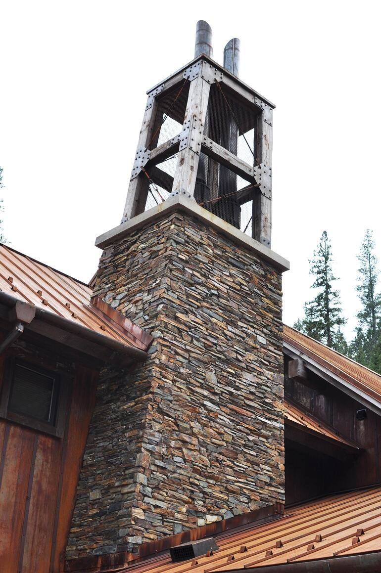 Custom stone chimney