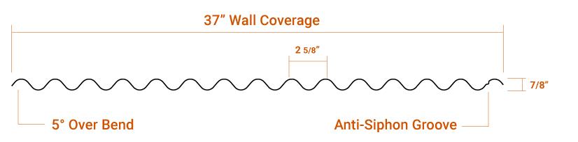 "7/8"" Corrugated Panel Profile"