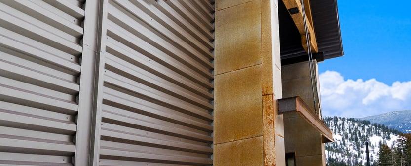Commercial Siding using Modern Steel