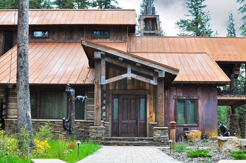 Cabin Amp Log Home Metal Siding Applications