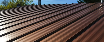 Copper Penny Standing Seam Roofing