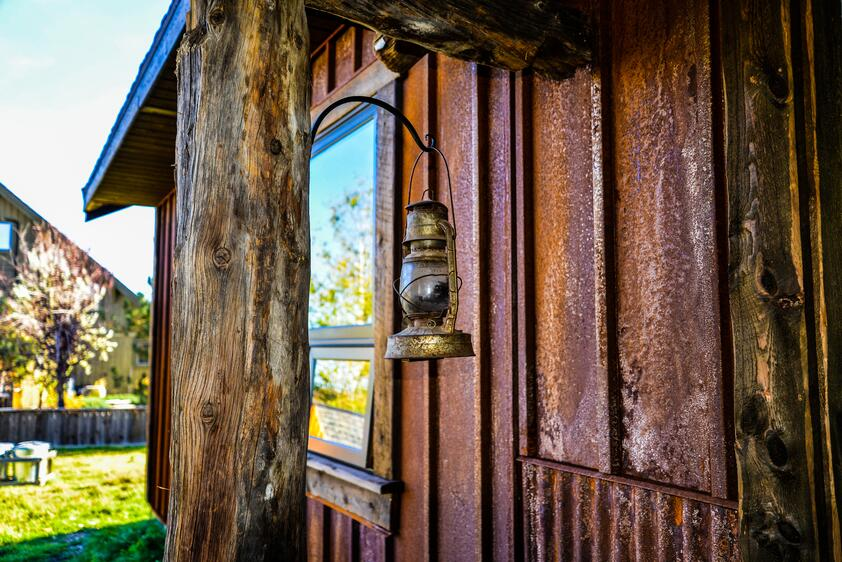 Weathering Steel Siding on Rustic Home