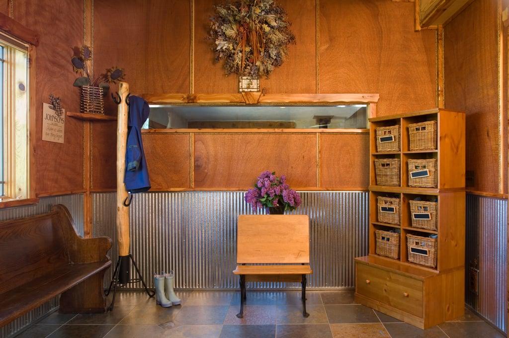 Rustic Interior Metal Corrugated Wainscot