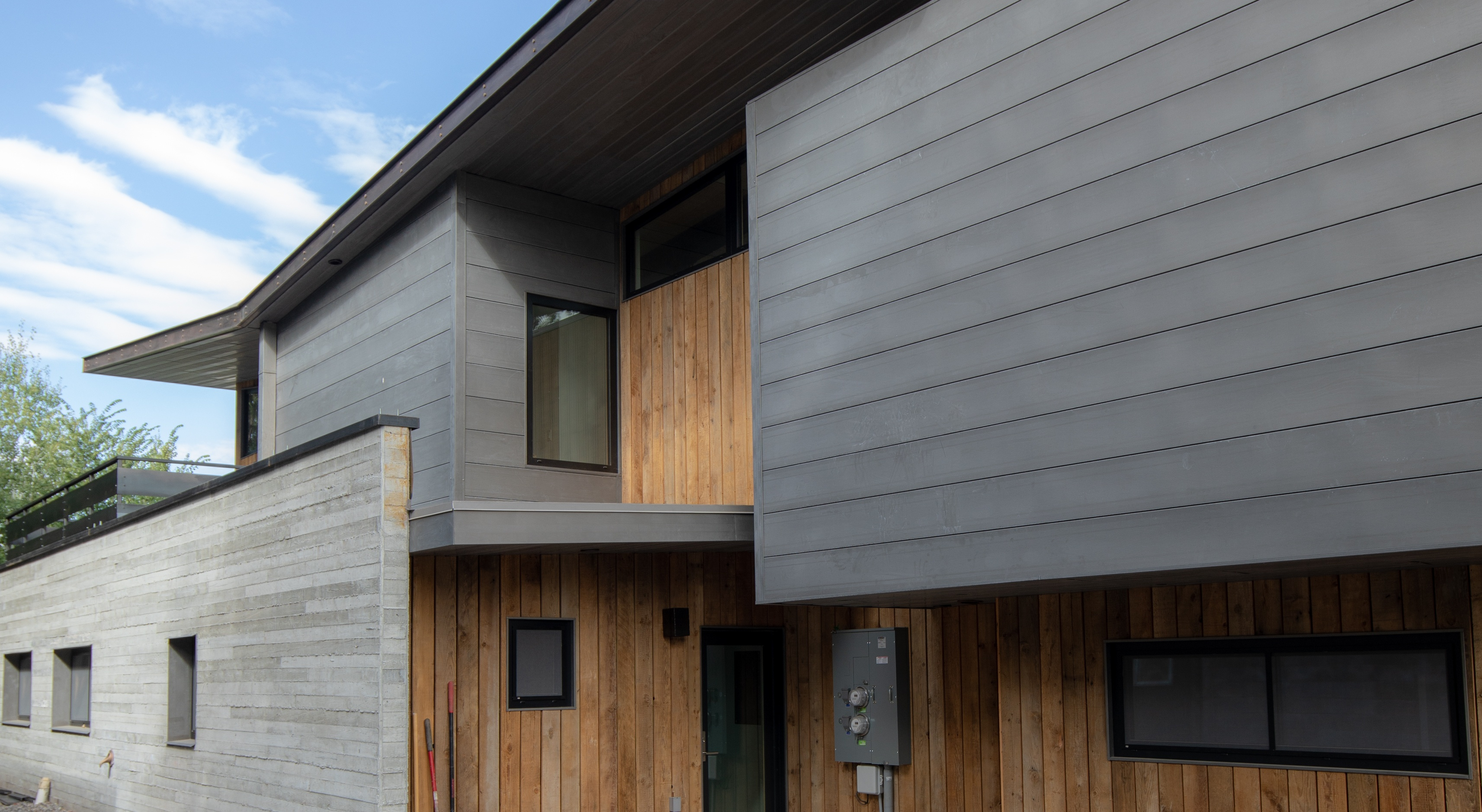 Using Metal Siding on a Modern Home on Contemporary Siding  id=19387