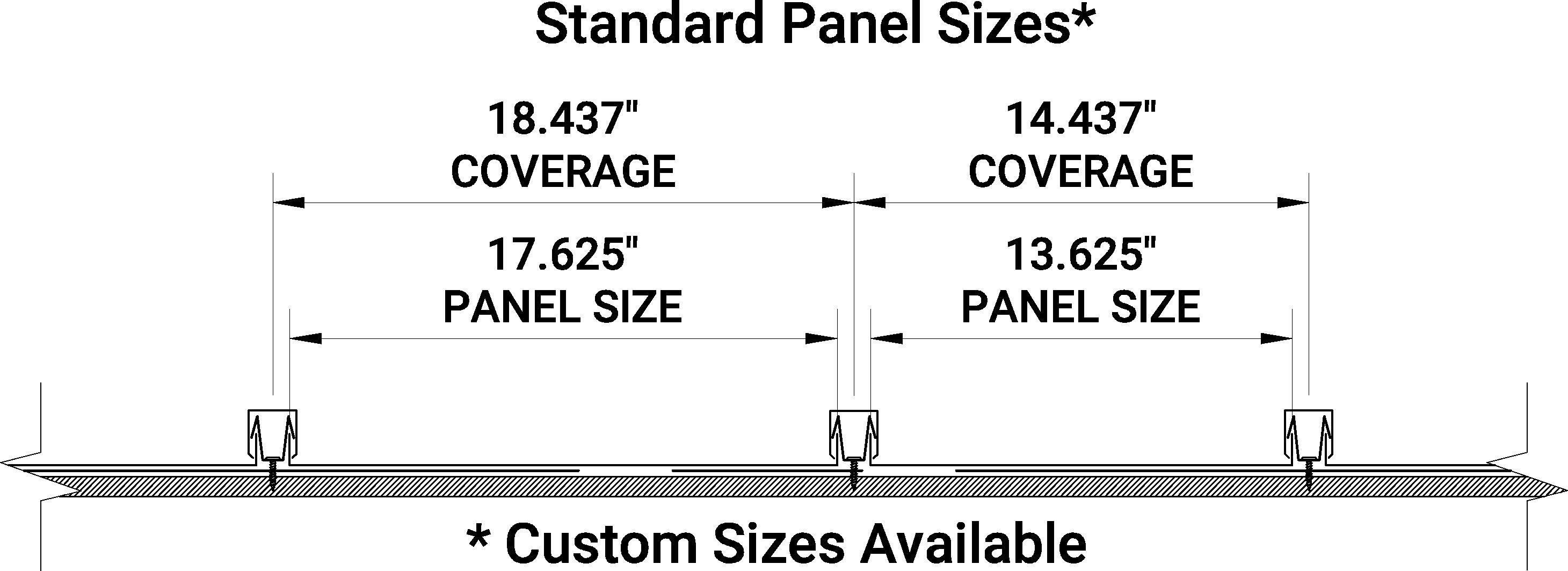 Snap Batten Standard Size