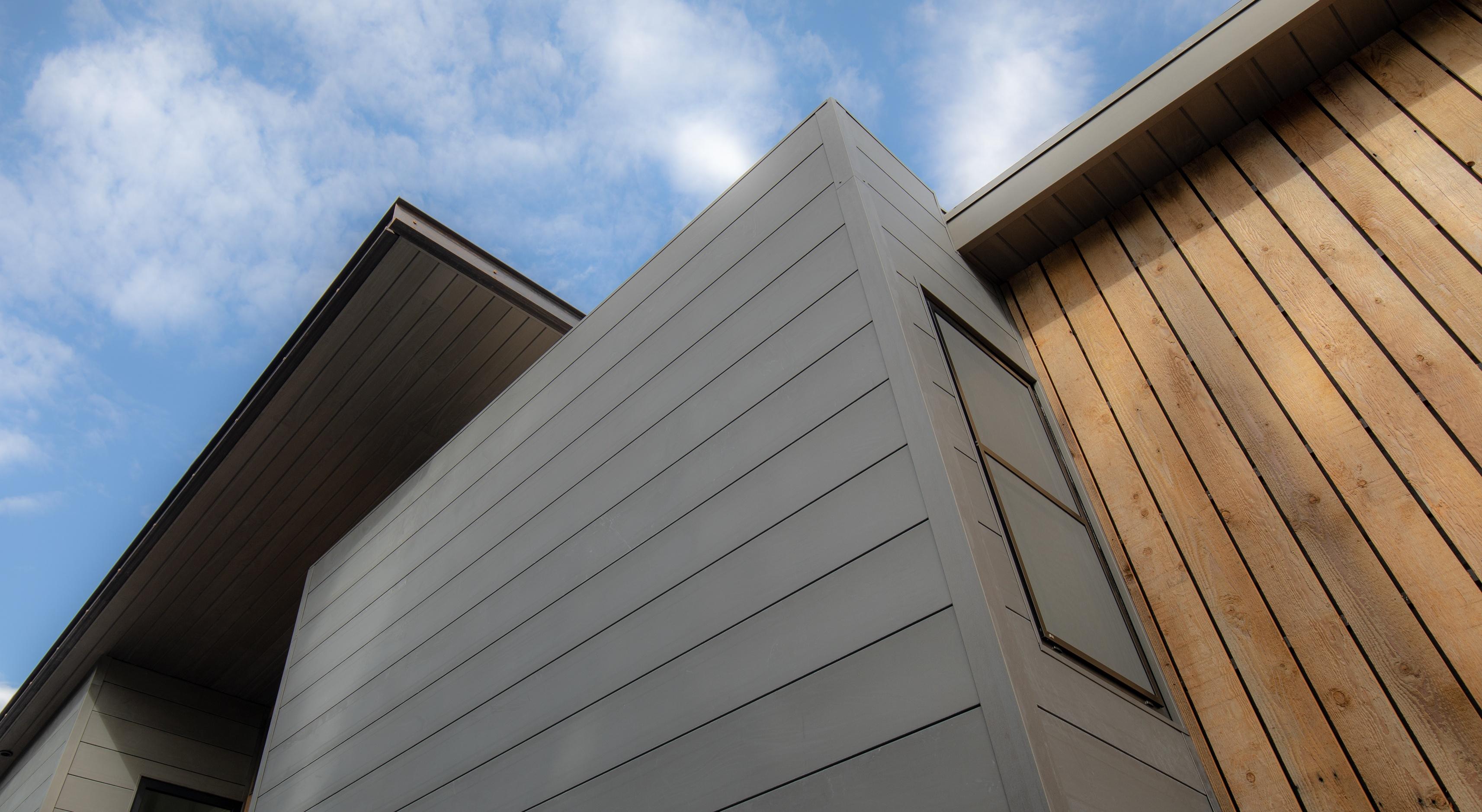 shiplap metal facade