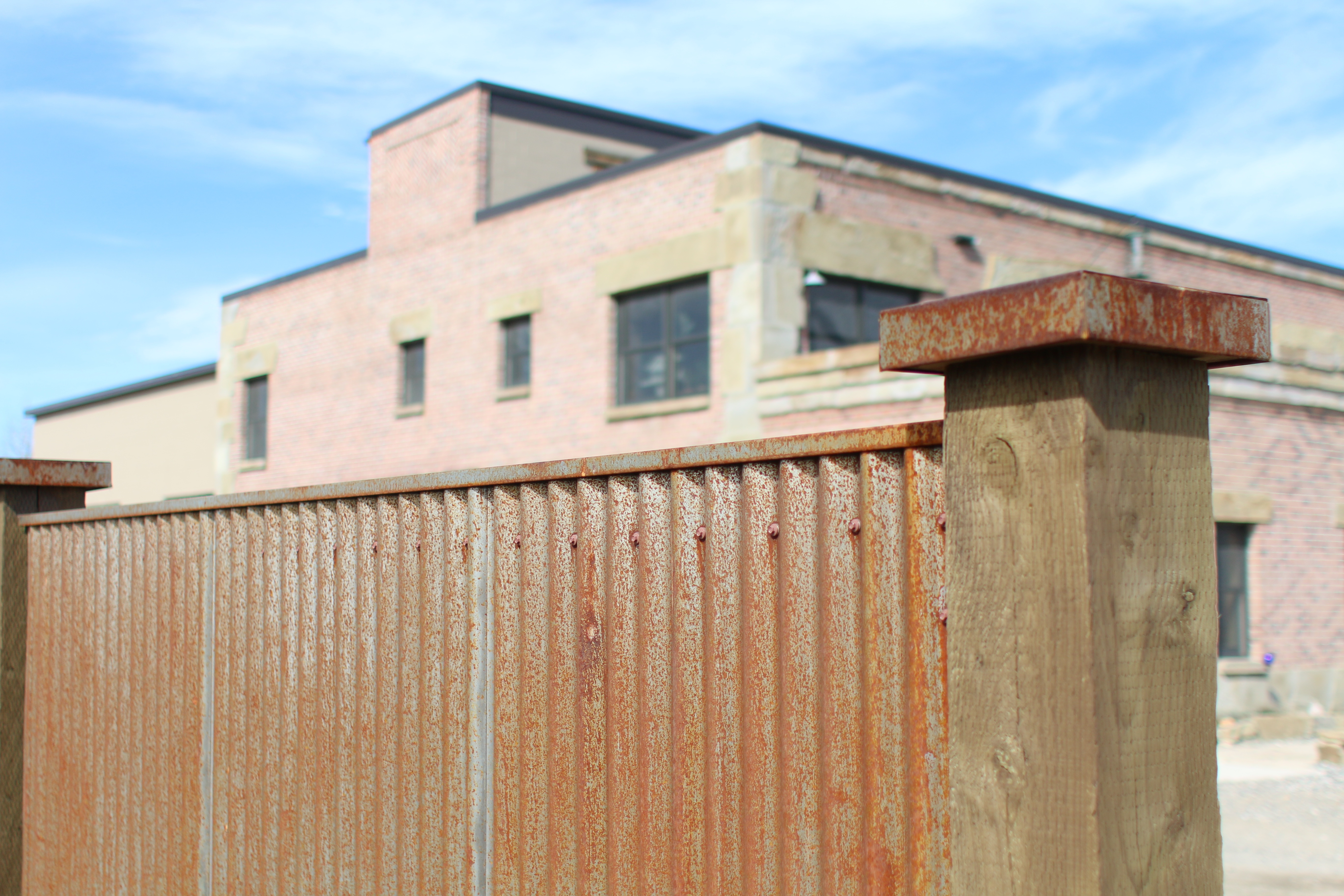 corrugated metal fence panels. Rusted Corrugated Fence Metal Panels