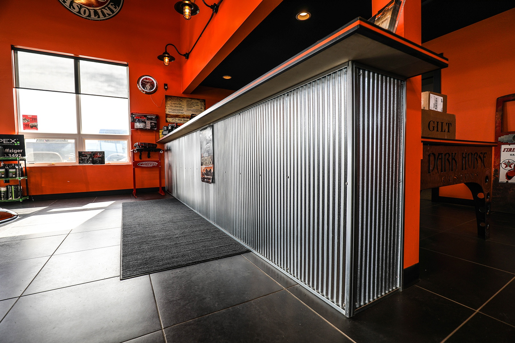 """1 4"""" Corrugated Metal Panel for Interior Wall or Decorative"""