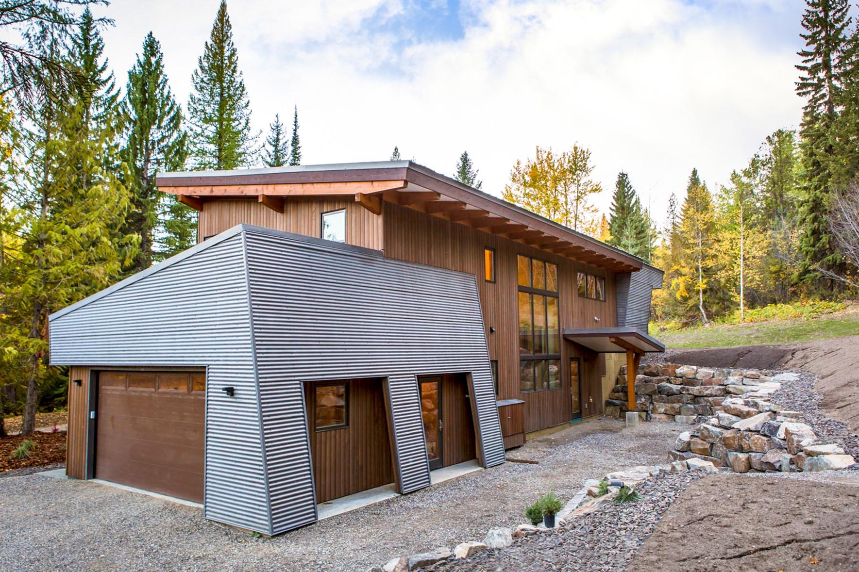 modern corrugated siding - Modern Home Siding